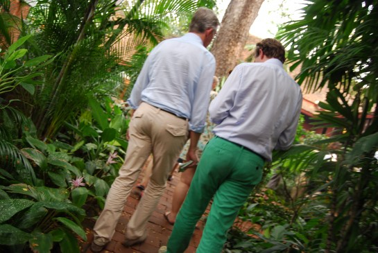 Frivolous Universe, FU, Jim Thompson's House, Bangkok, Thailand, Asia Street Style, Thai street style, teal green pants, mens fashion