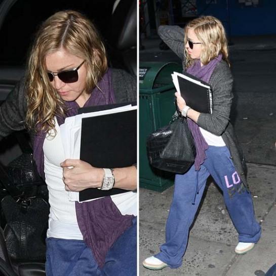 Madonna, sweatpants, Madonna candid shot